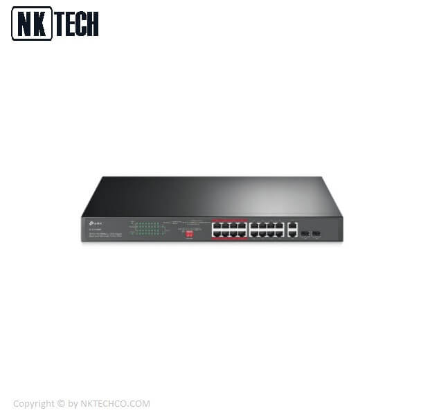 سوئیچ شبکه تی پی لینک مدل TL-SL1218MP V2